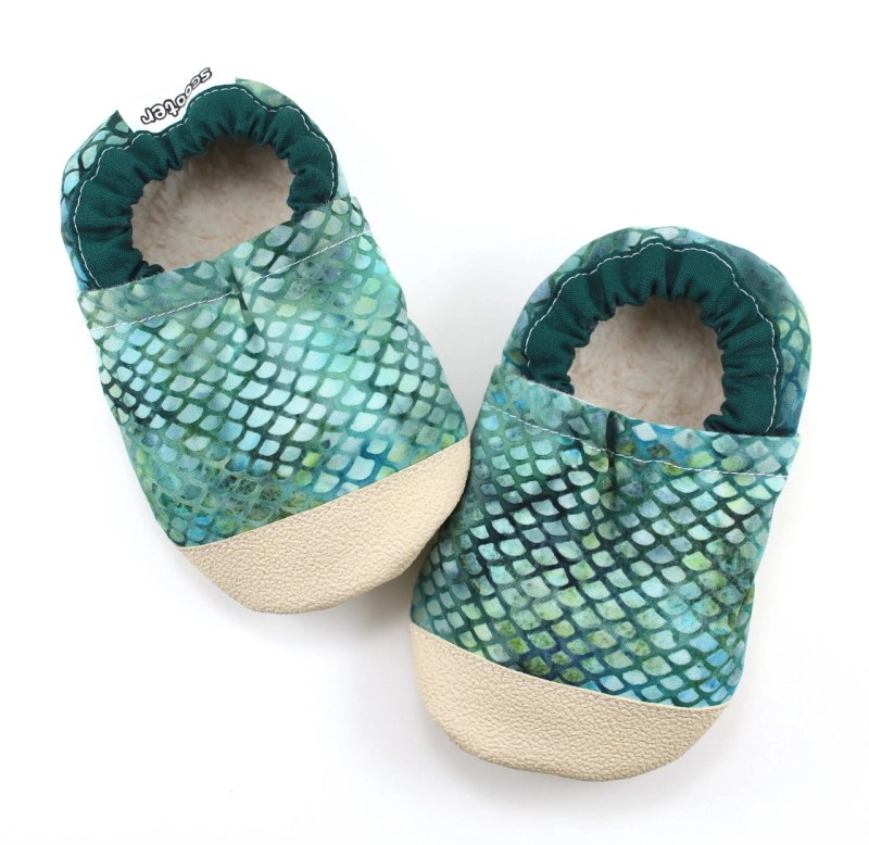Mermaid Baby Booties