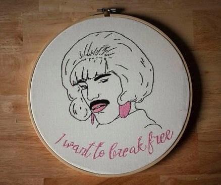 Freddie Mercury embroidery