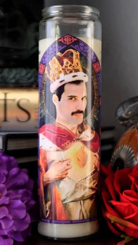 Freddie Mercury prayer candle