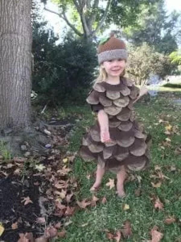 Front Pine Cone Costume