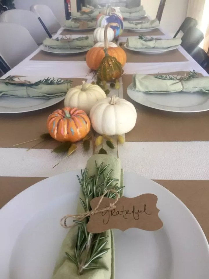 Pumpkin Thanksgiving runner