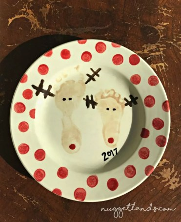 holiday craft plate