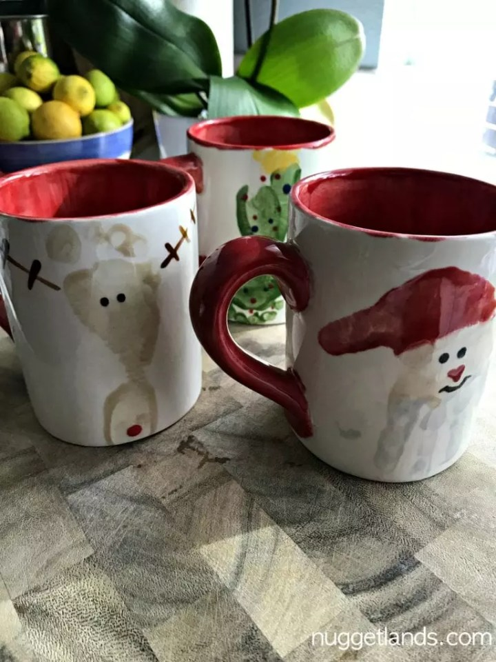 holiday craft mugs