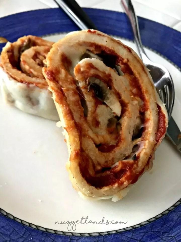 Cheesy Stuffed Meatloaf swirl