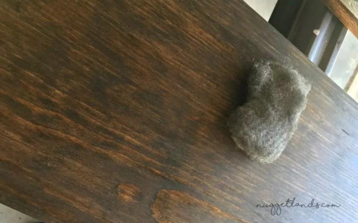 laundry shelf steel wool