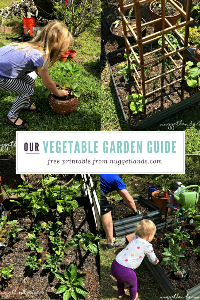 Vegetable Garden Plan with Free Printable