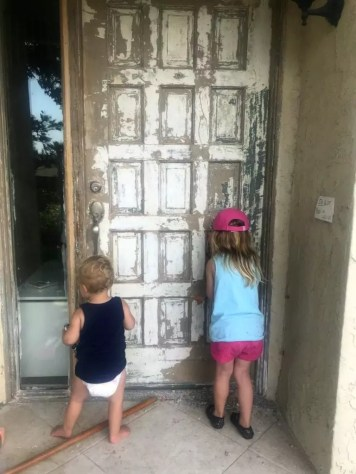 front door DIY with kids
