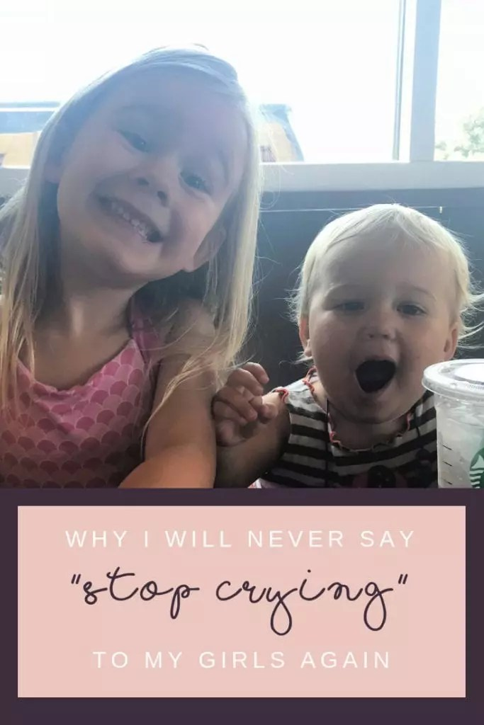 How I found a teachable moment for my toddler and preschool girls in an every day part of my morning routine. What we say matters and they hear it all. How I'm trying to be the adult I want them to become. #parenting #momlife #emotions #crying #toddler #preschool