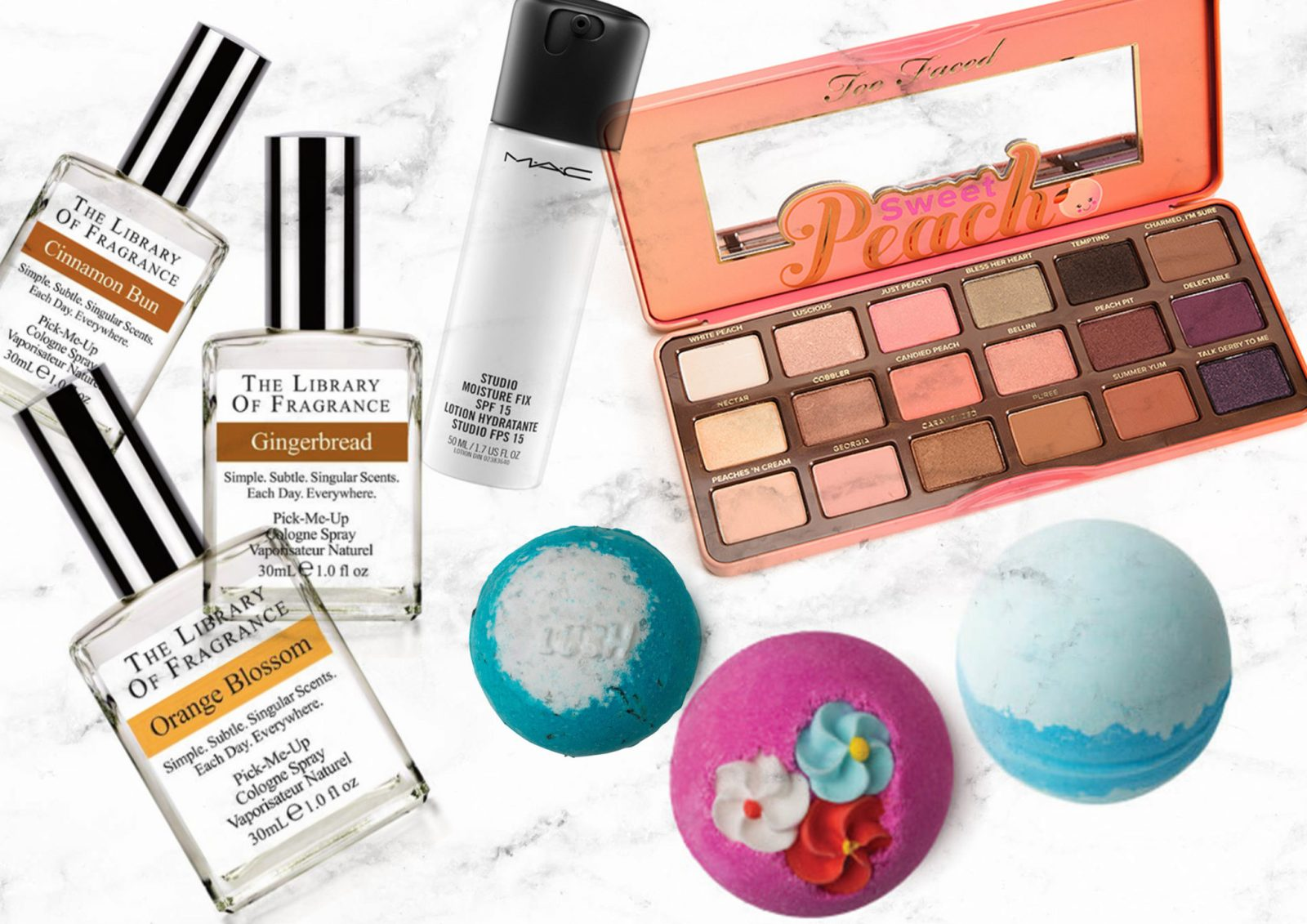 Beauty Wishlist Library Of Fragrance Too Faced Peach Pallette Mac Fix Plus Lush