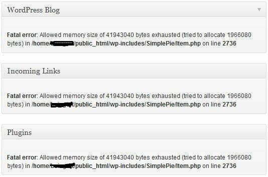 Cara Mengatasi SamplePie Fatal Error di Wordpress | Nugi.Biz