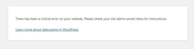 There has been a critical error on your website. Please check your site admin email inbox for instructions.