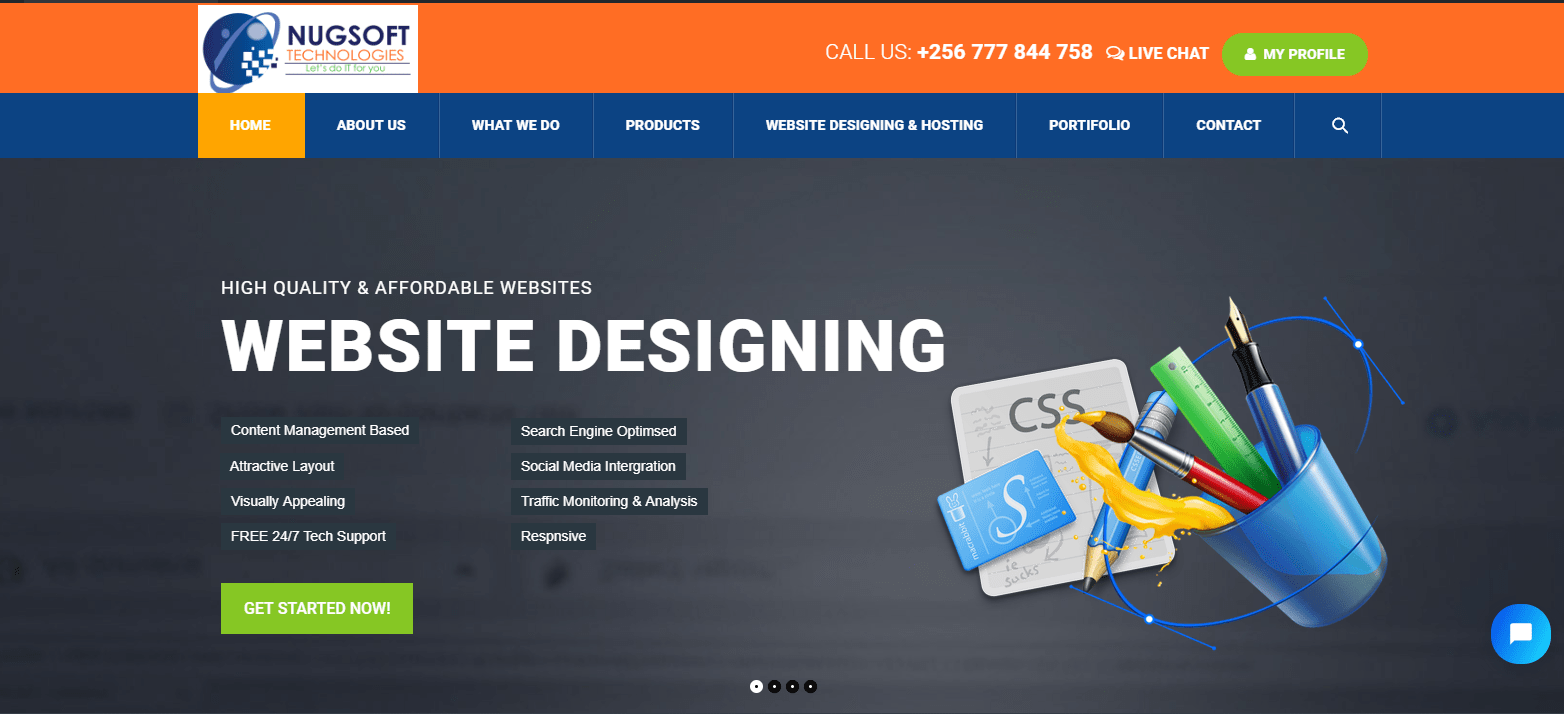 Website Designing in Uganda – Nugsoft Technologies