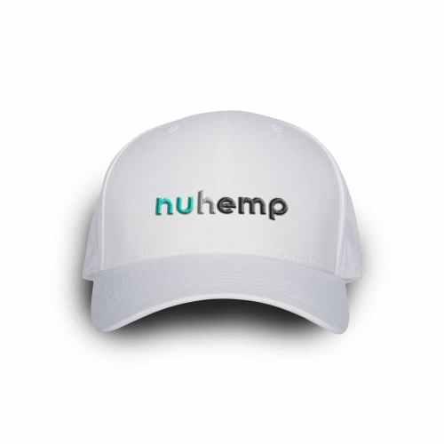 Nuhemp White Logo FlexFit Delta Custom Logo Hat