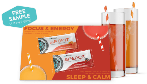 free sample instant hemp drink mix day and night formulas just pay shipping