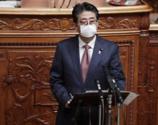 安倍,マスク,大きくなった