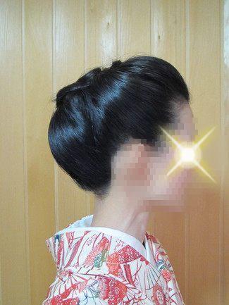 着物の髪型 結い上げ 丸いシルエットのアレンジ