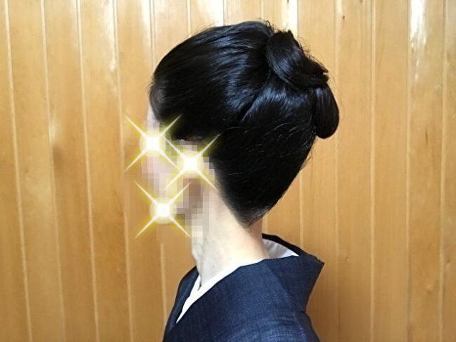 自分で出来る和髪・着物簡単セルフヘアアレンジ・「簡単」「短時間」「綺麗」に作れる結髪・斜め左側