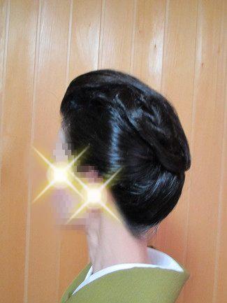 自分で出来る和髪・着物簡単セルフヘアアレンジ・耳かくし・渦巻スタイル