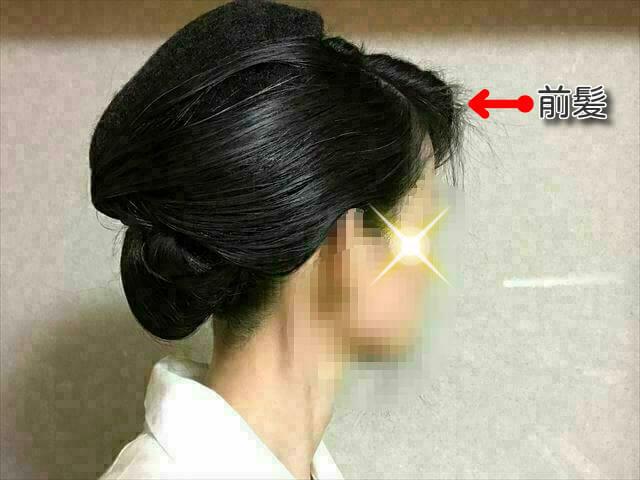 着物の髪型 40代50代 簡単に自分で出来る訪問着に合う和装ヘアアレンジ ロング 途中経過5