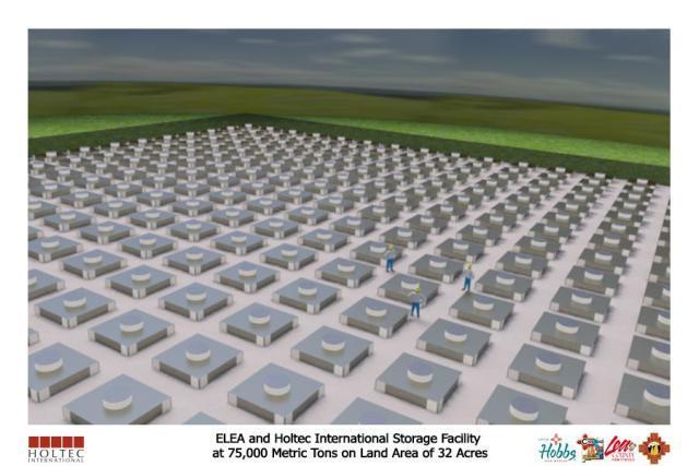 ELEA/Holtec storage ground view