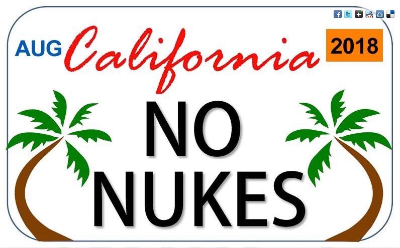 NAPF Cali No Nukes Plate