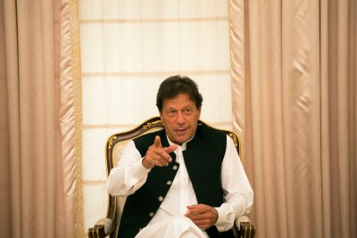 "Pakistan Leader Vents Frustration at India: 'No Point in Talking to Them' Prime Minister Imran Khan of Pakistan said he warned President Trump of a ""potentially very explosive situation."" Credit: Saiyna Bashir for The New York Times"