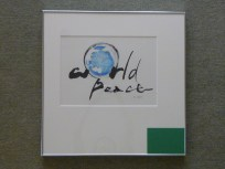 楽書「World piece」
