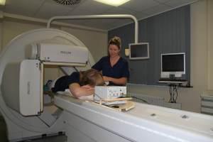 EKG-getriggerte Aufnahme an der Gammakamera