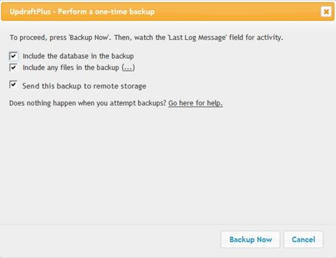 Backup Blog WordPress ke Dropbox