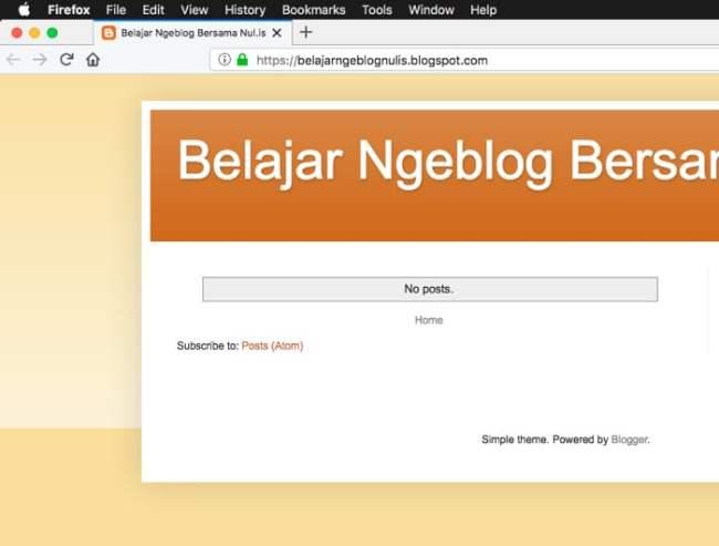 Cara Hemat dan Mudah Membuat Blog untuk Pemula #1 - Blog Sudah Jadi