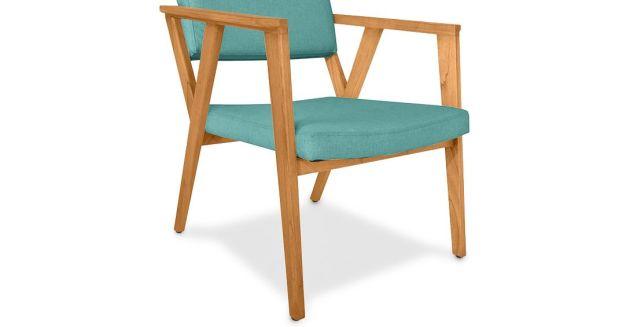 Harga Set Meja Kursi Ruang Tamu Model Minimalis Modern 2020 - Kursi Tamu Eton Armchair Teal