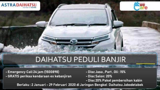 Layanan Servis Mobil Daihatsu Korban Banjir Jabodetabek - Layanan Korban Banjir Astra Daihatsu