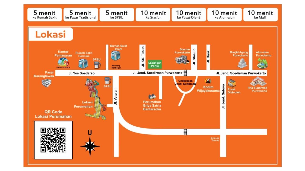 Peta Lokasi Griya Satria Mandalatama