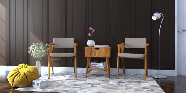 Harga Set Meja Kursi Ruang Tamu Model Minimalis Modern 2020 - Set Kursi Tamu dengan 2 Kursi dan Meja Laci
