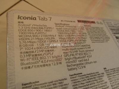 Spesifikasi Tablet Android Acer Icona Tab 7 Aprillia