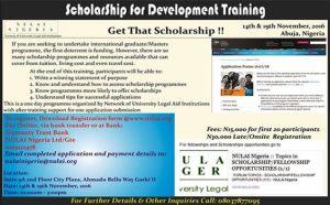 ScholarShip for Development Training