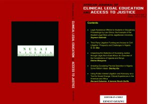 African Journal of Clinical Legal Education and Access to Justice