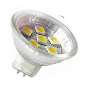 MR11/GU4 Led Spot 6 SMD Warm wit