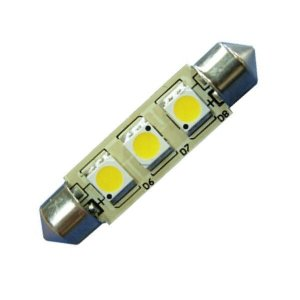 LED S8 Festoon Buislamp 3SMD Warm wit