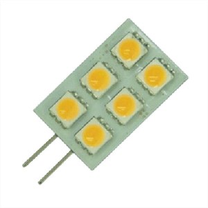Gu gu4 6 smd lang camper led lamp boot verlichting multie voltage 10-30v 12v 24v