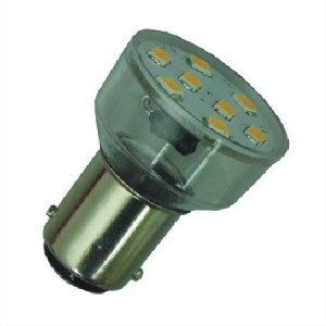 BA15s LED Spot 12V en 24V Warm wit-0