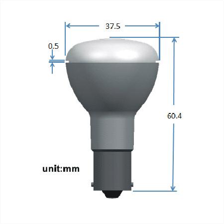 BA15d LED Spot 12V en 24V Warm wit Melkglas