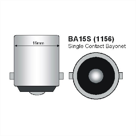 BA15s LED Spot 12V en 24V Warm wit-785