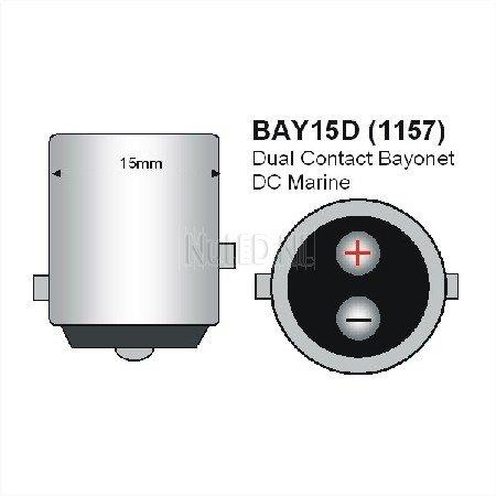 BAY15D Navigatie LED Lamp 24LED's-905