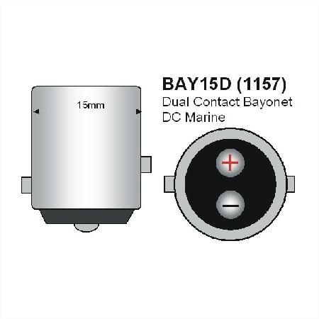 BAY15D LED Lamp 12V en 24V Multi-voltage 12SMD-916