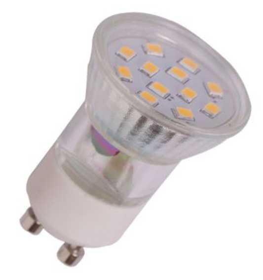 24v GU10 LED Spot 12 SMD (35mm) warm wit 12 Volt en 24 Volt.