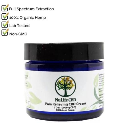 Nulife CBD 500mg Cream Salve