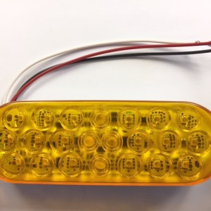 Amber LED Strobe Light, Oval 420SA-1