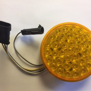 "4"" Amber LED Smart Lamp Roadside High with Hardshell and Plugs 4343A-2"