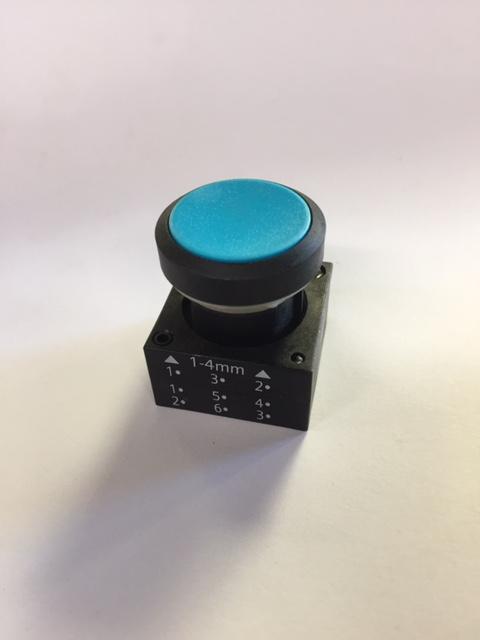 Galbreath Button, Blue Push A3501